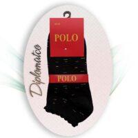جوراب مچی زنانه کنگره دار - POLO - تمام پنبه